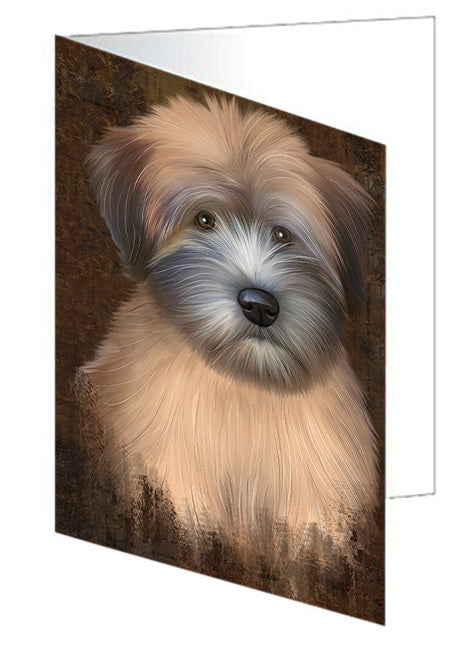 Rustic Wheaten Terrier Dog Greeting Card GCD67532
