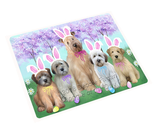 Easter Holiday Wheaten Terriers Dog Large Refrigerator / Dishwasher Magnet RMAG104040