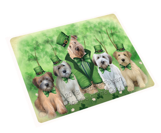 St. Patricks Day Irish Portrait Wheaten Terrier Dogs Refrigerator / Dishwasher Magnet RMAG104748