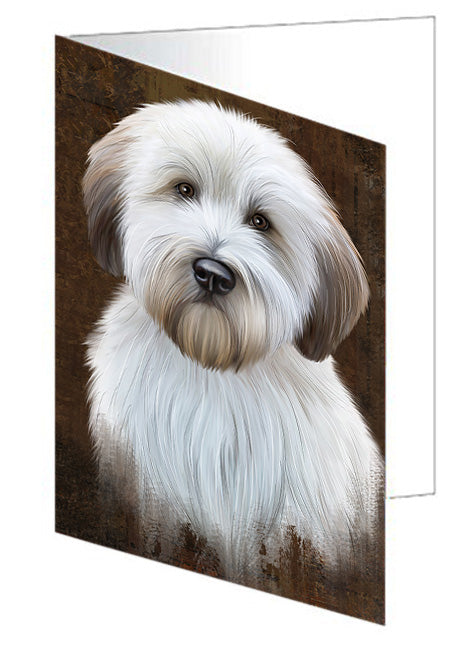 Rustic Wheaten Terrier Dog Greeting Card GCD67535