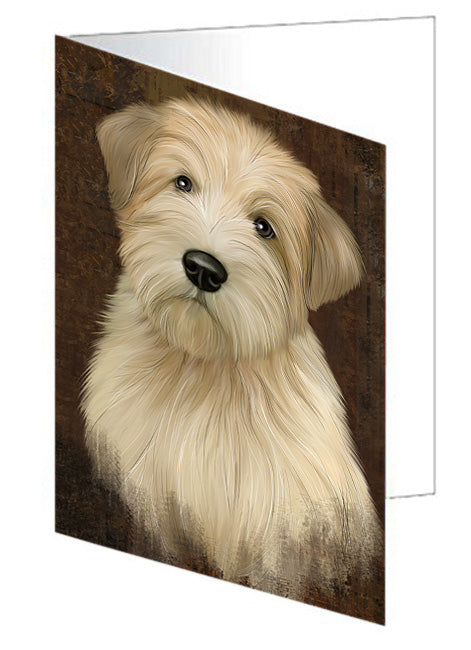 Rustic Wheaten Terrier Dog Greeting Card GCD67538