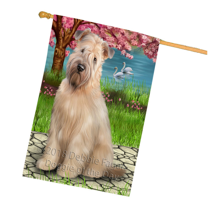 Wheaten Terrier Dog House Flag FLG51932