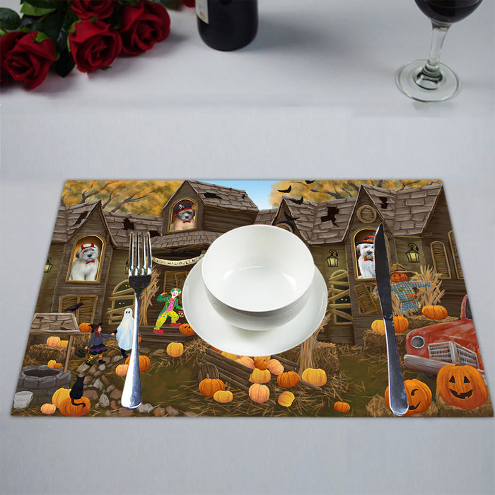 Haunted House Halloween Trick or Treat Wheaton Terrier Dogs Placemat