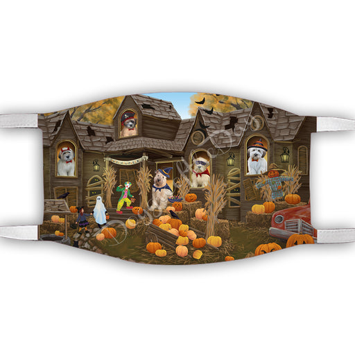 Haunted House Halloween Trick or Treat  Wheaton Terrier Dogs Face Mask FM49747
