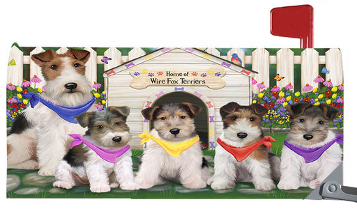 Spring Dog House Wire Fox Terrier Dogs Magnetic Mailbox Cover MBC48688