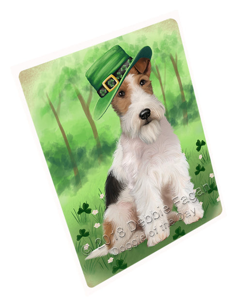 St. Patricks Day Irish Portrait Wire Fox Terrier Dog Refrigerator / Dishwasher Magnet RMAG104772