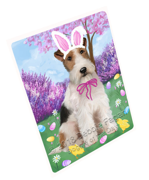 Easter Holiday Wire Fox Terrier Dog Large Refrigerator / Dishwasher Magnet RMAG104046