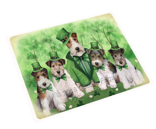 St. Patricks Day Irish Portrait Wire Fox Terrier Dogs Refrigerator / Dishwasher Magnet RMAG104778