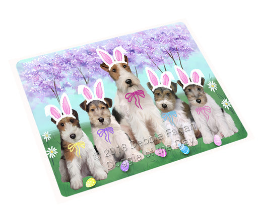 Easter Holiday Wire Fox Terriers Dog Large Refrigerator / Dishwasher Magnet RMAG104052