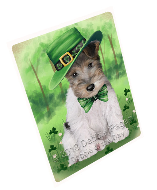 St. Patricks Day Irish Portrait Wire Fox Terrier Dog Refrigerator / Dishwasher Magnet RMAG104784