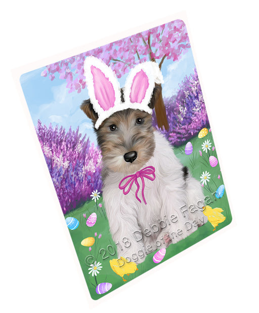 Easter Holiday Wire Fox Terrier Dog Large Refrigerator / Dishwasher Magnet RMAG104058