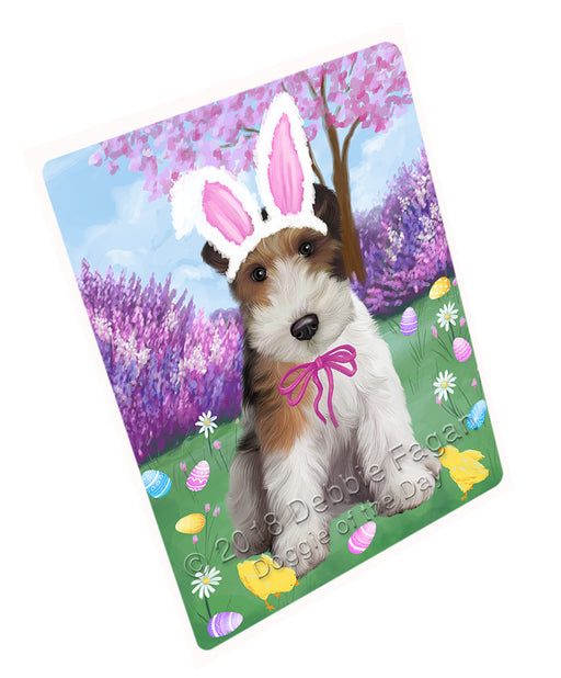 Easter Holiday Wire Fox Terrier Dog Large Refrigerator / Dishwasher Magnet RMAG104064