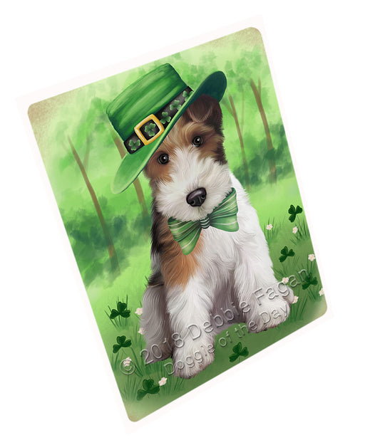 St. Patricks Day Irish Portrait Wire Fox Terrier Dog Refrigerator / Dishwasher Magnet RMAG104790