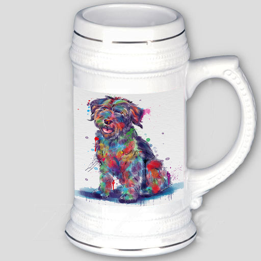 Watercolor Wirehaired Pointing Griffon Dog Beer Stein BST57460