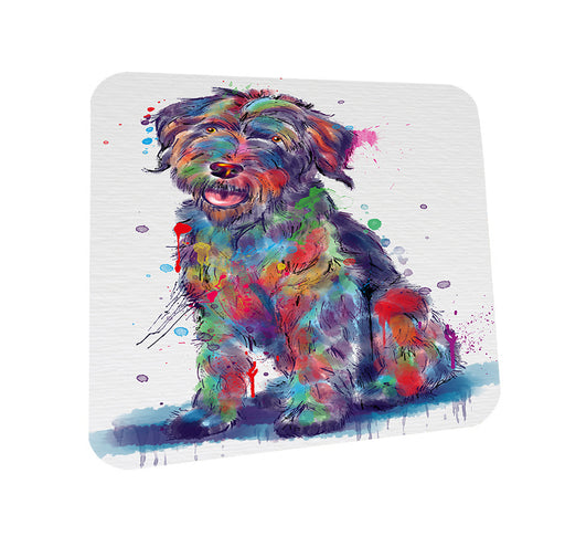 Watercolor Wirehaired Pointing Griffon Dog Coasters Set of 4 CST57531