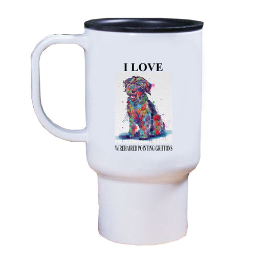 Watercolor Wirehaired Pointing Griffon Dog Travel Mug TRAV52808