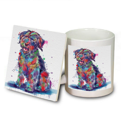 Watercolor Wirehaired Pointing Griffon Dog Mug and Coaster Set MUC57565