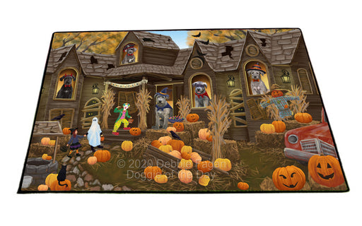 Haunted House Halloween Trick or Treat Wolfhound Dogs Floormat FLMS55660