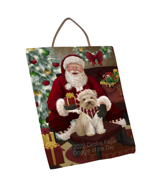 Santa's Christmas Surprise Yorkipoo Dog Wall Décor Hanging Photo Slate SLTH58493