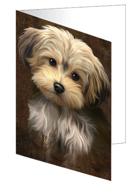 Rustic Yorkipoo Dog Greeting Card GCD67550