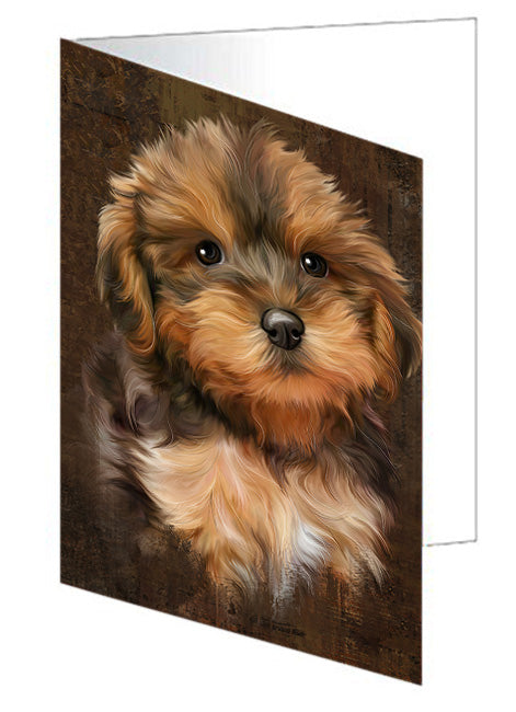 Rustic Yorkipoo Dog Greeting Card GCD67553