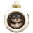 Rustic Yorkipoo Dog Round Ball Christmas Ornament RBPOR54509