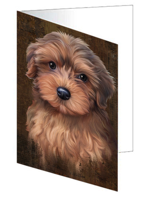 Rustic Yorkipoo Dog Greeting Card GCD67562