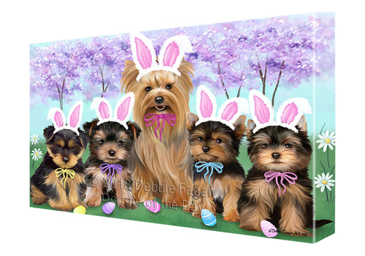Yorkshire Terriers Dog Easter Holiday Canvas Wall Art CVS60555