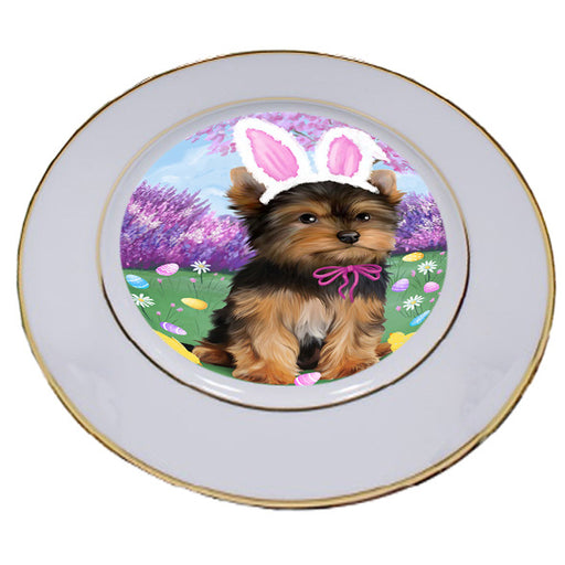 Yorkshire Terrier Dog Easter Holiday Porcelain Plate PLT49308