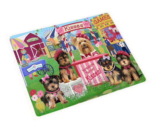 "Carnival Kissing Booth Yorkshire Terriers Dog Magnet MAG73296 (Mini 3.5"" x 2"")"