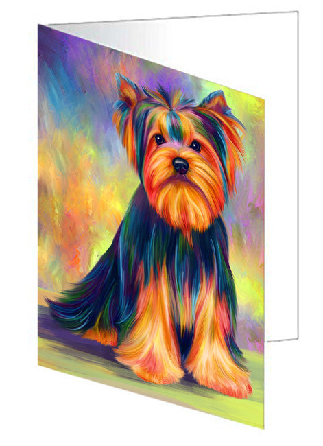 Paradise Wave Yorkshire Terrier Dog Note Card NCD72779