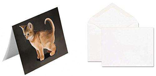 Abyssinian Kitten Cat Greeting Card