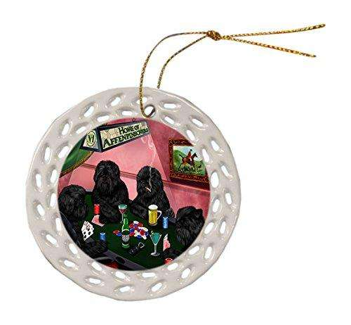 Affenpinscher Dog Christmas Doily Ceramic Ornament