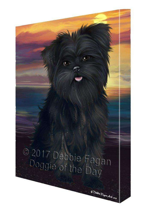 Affenpinschers Dog Canvas Wall Art D367