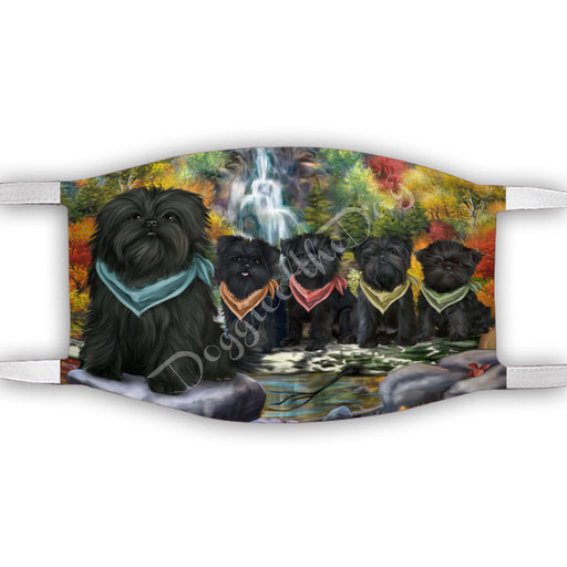 Scenic Waterfall Affenpinscher Dogs Face Mask FM49256
