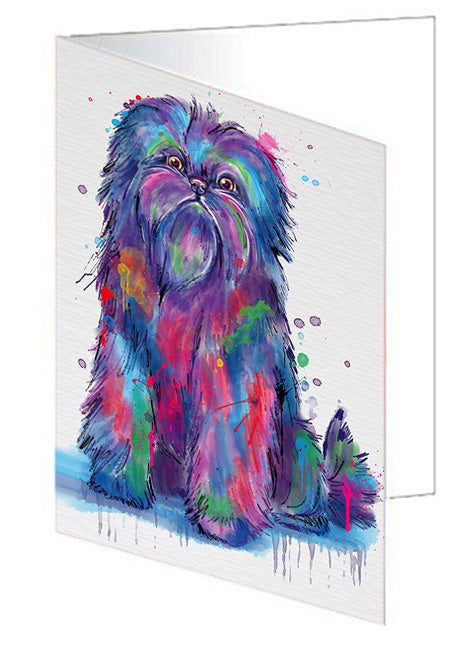 Watercolor Affenpinscher Dog Note Card NCD76706