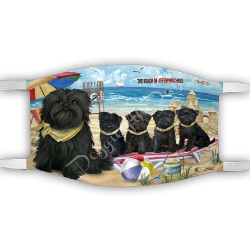 Pet Friendly Beach Affenpinscher Dogs Face Mask FM49057