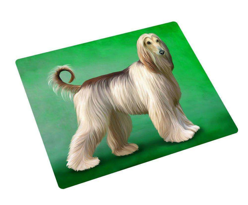 Afghan Hound Dog Art Portrait Print Woven Throw Sherpa Plush Fleece Blanket