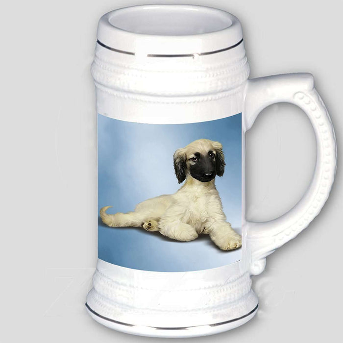 Afghan Hound Dog Beer Stein