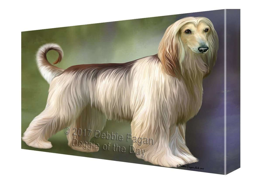 Afghan Hound Dog Canvas Wall Art D143