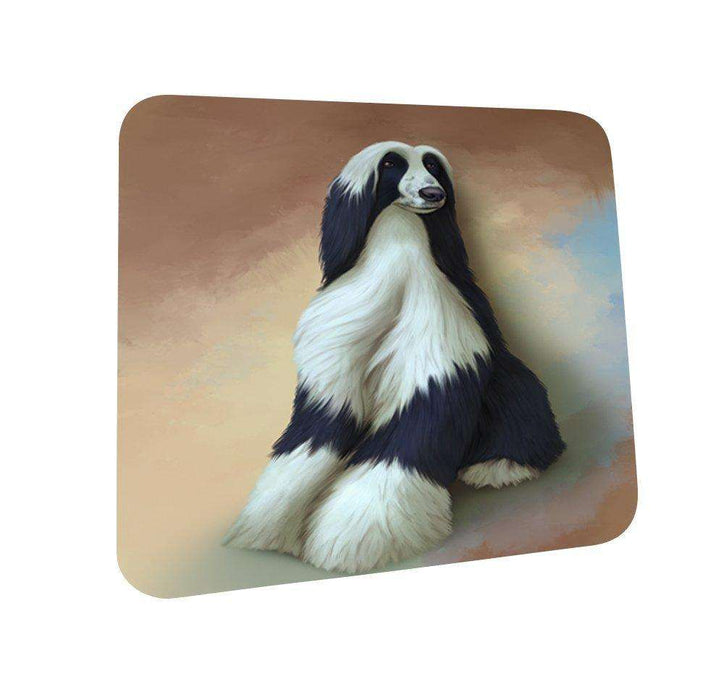 Afghan Hound Dog Coasters Set of 4