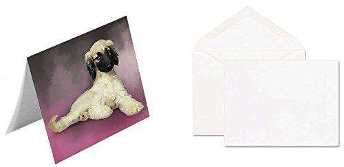 Afghan Hound Dog Greeting Card D179