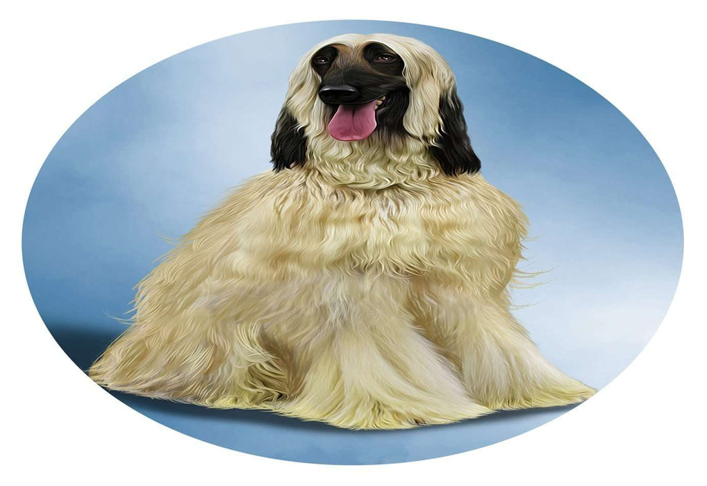 Afghan Hound Dog Oval Envelope Seals