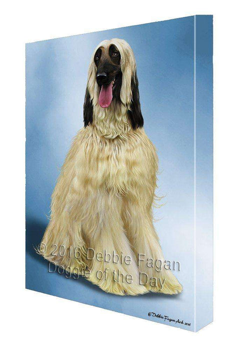 Afghan Hound Dog Painting Printed on Canvas Wall Art