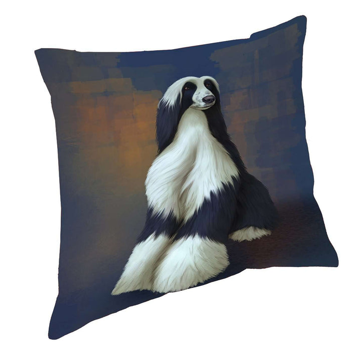 Afghan Hound Dog Throw Pillow