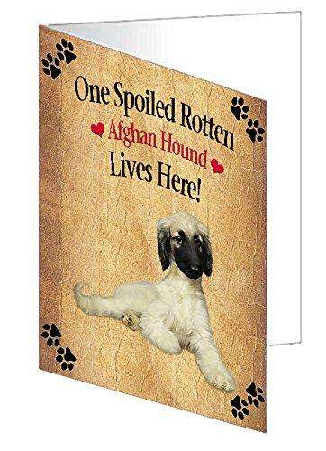 Afghan Hound Spoiled Rotten Dog Greeting Card