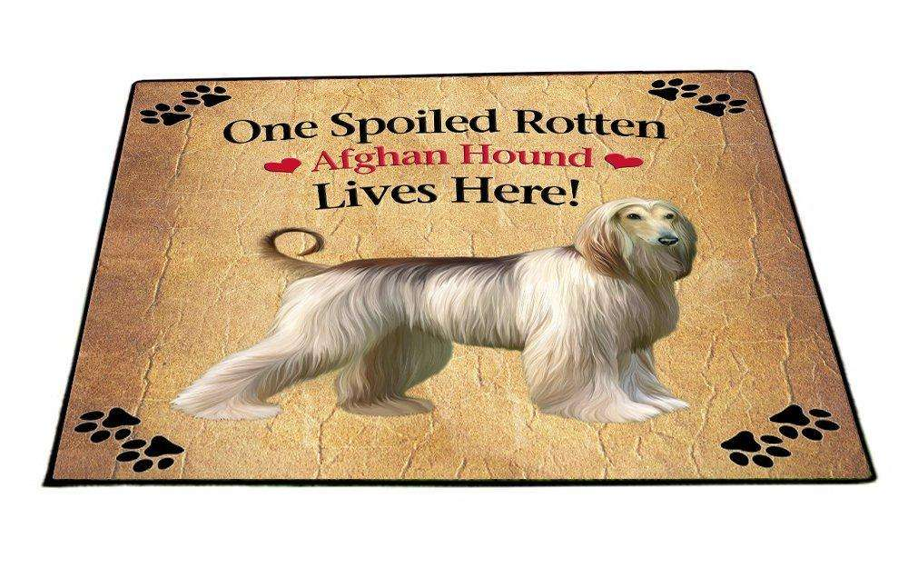 Afghan Hound Spoiled Rotten Dog Indoor/Outdoor Floormat