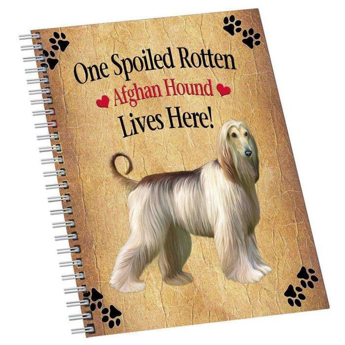 Afghan Hound Spoiled Rotten Dog Notebook
