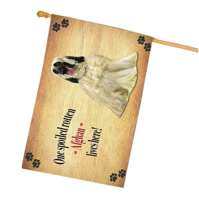 Afghan Spoiled Rotten Dog House Flag
