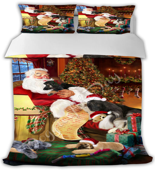 Santa Sleeping with Afghan Hound Dogs Bed Comforter CMFTR49302